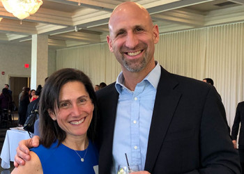 Sandy Samberg, Nu'94, GNu'95 and husband Joe Samberg