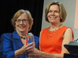 Dr. Linda Aiken presents the AcademyHealth Distinguished Investigator Award to Dr. Mary Naylor on...