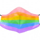 Mask with rainbow color isolated on white background