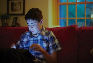 Half of children who have autism have trouble falling or staying asleep, which may make their symptoms worse. Blue light from TVs and other technology can be part of the problem.