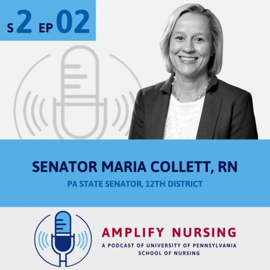 Senator Maria Collett Amplify Nursing Graphic