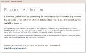 Request Verification of Education