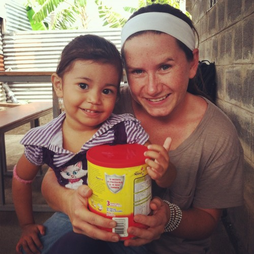 Natalie Ball on location in Nicaragua with the Child Nutrition Program