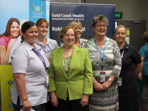 Dr. Linda H. Aiken, RN4CAST Study Director with nurses and midwives at recent Gold Coast Health seminar in Queensland