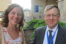 CHOPR Postdoctoral Graduate, Hilary Barnes, PhD, NP-C, Assistant Professor of Nursing, University of Delaware, shown above left with Jeffrey H. Silber, MD, PhD, Children's Hospital of Philadelphia