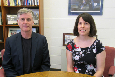 Predoctoral Fellow Betsy White with Dr. James Buchan
