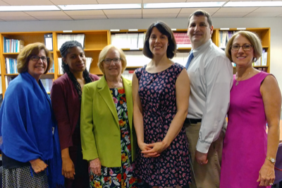 Predoctoral Fellow, Betsy White, with her dissertation committee following her dissertation defen...