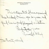 Student File, Correspondence, Mildred Lillian Ennis, Class of 1919, Frederick Douglass Memorial Hospital and Training School