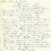 Student File, Letter of Support, Lovice Jones, Class of 1920, Frederick Douglass Memorial Hospital and Training School