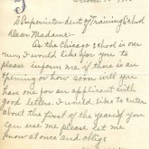 Student File, Correspondence, Mabel Williams, Class of 1917, Frederick Douglass Memorial Hospital and Training School