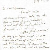 Student File, Correspondence, Inez May Hoyt, Class of 1921, Frederick Douglass Memorial Hospital and Training School
