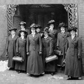 Nine visiting nurses ready for work