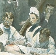 <em>Close up of Mary V. Clymer</em> <em>in</em> The Agnew Clinic