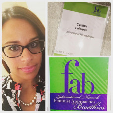 DSO Provided Supportive Funding for Cynthia Paidipati to Attend an International Bioethics Conference - Summer 2016