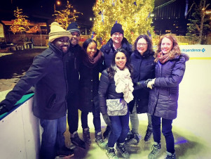 <strong>Ice Skating on Penn's Landing - Winter 2016</strong>