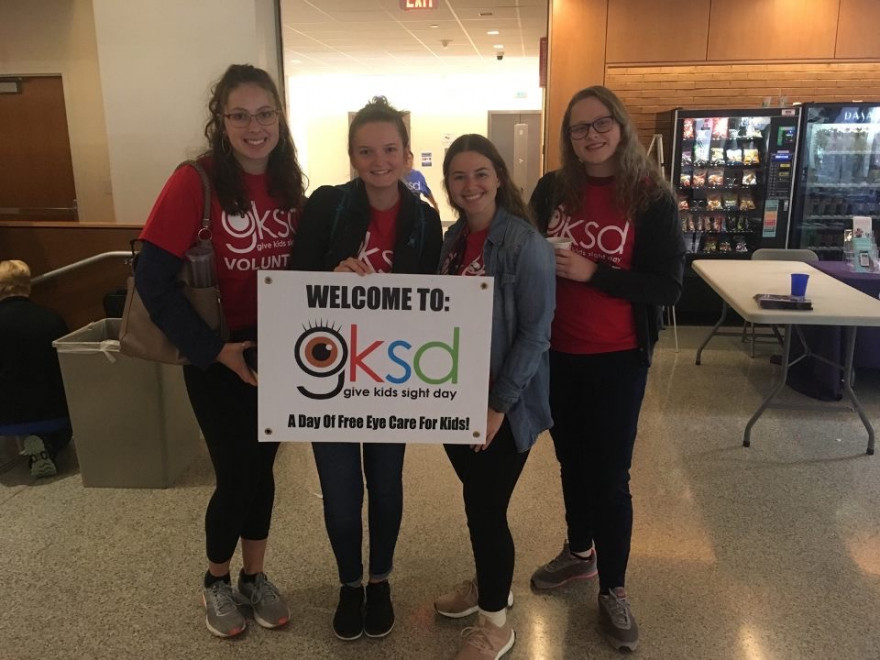 Volunteers at Give Kids Sight Day