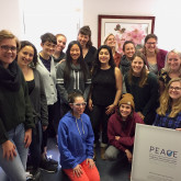 13 nursing students and 2 community members participated in a training at the PEACE clinic to sup...