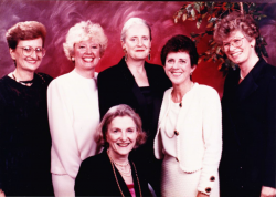 This is a picture from 1991 when 5 of us were inducted into the Academy. This was (and I think still is) the largest number of inductees in one year from any school. Pictured left to right: Connie Carino, Joanne Disch, Claire Fagin, Ann O'Sullivan, Cynthia Scalzi, and Jane Barnsteiner.