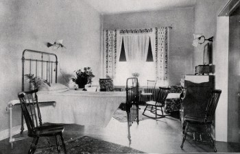 A private patient room, Hospital of the University of Pennsylvania, 1919