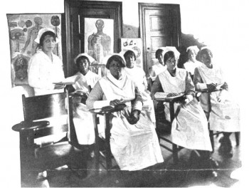 Students in class, Mercy Hospital School of Nursing, Philadelphia, PA, class of 1929