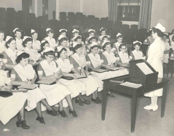 Professional Adjustments class for senior students, Philadelphia General Hospital School of Nursing, 1949