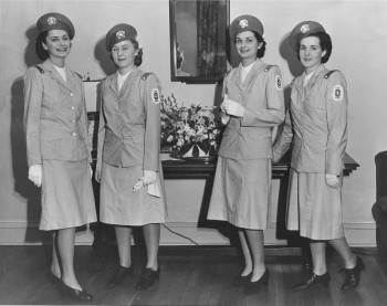 Eileen Daffy, Jeanne Simpson, Eleanor Snoke, and Jean Gerhard, Student Nurse Cadet Corps, Philadelphia General Hospital students, class of 1965