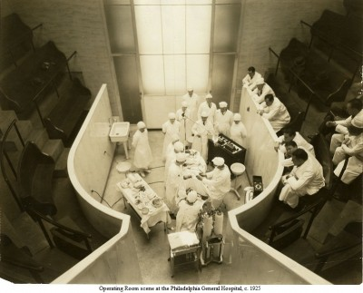 Operating room scene at Philadelphia General Hospital, c. 1925