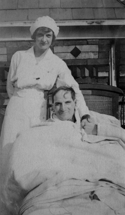 Nurse and patient, Jewish Hospital, Philadelphia, PA, c. 1930